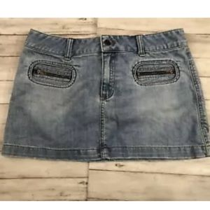 American Eagle Jean Denim Skirt Stretch Sz:10